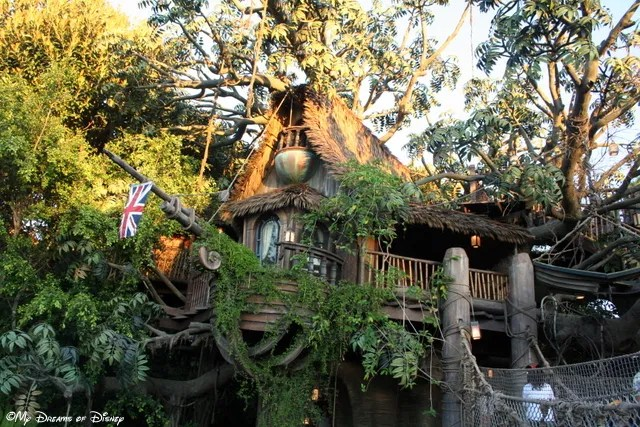 Tarzan's Treehouse is one of the attractions you can find in Adventureland