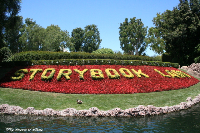 The Storybook Land Canal Boats are woven together like a tapestry with the Casey Jr. Circus Train!
