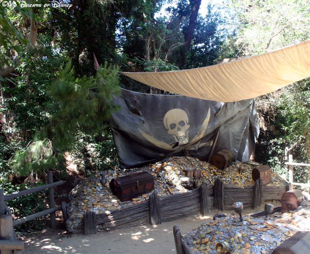 The Pirate's Lair is part of Tom Sawyer Island, a fun place for kids to play!