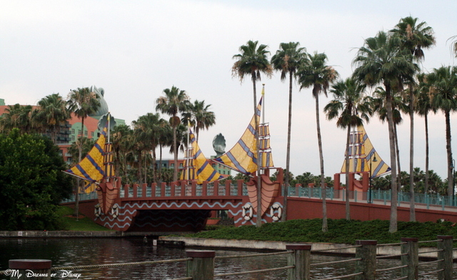This picture of the bridge at the Boardwalk region of Disney is a fun one for me!