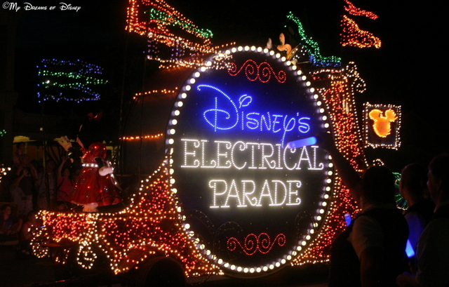 The Main Street Electrical Parade is incredible with it's improved lighting!