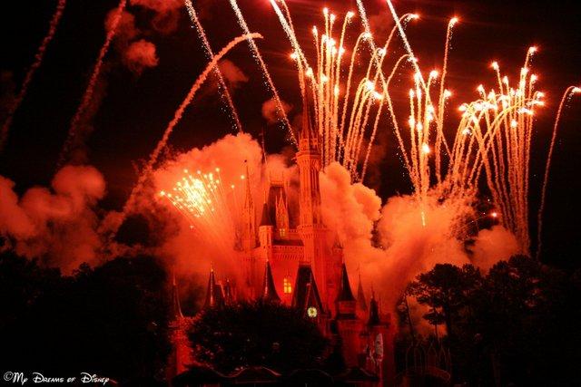 Special Fireworks over Cinderella Castle!