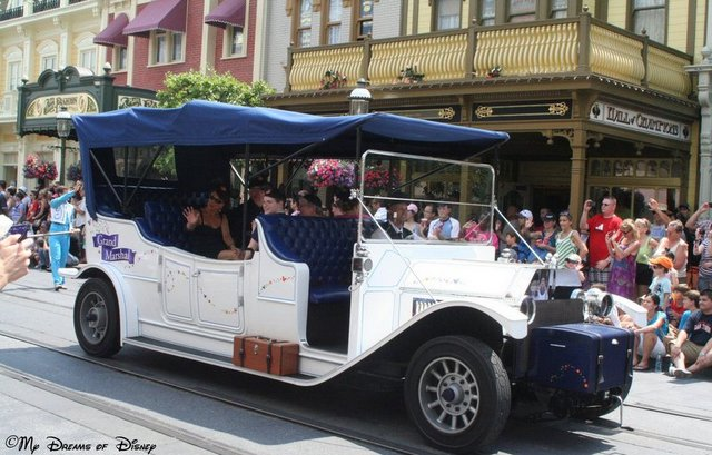 The Grand Marshall Car starts the parade on Main Street, U.S.A.!