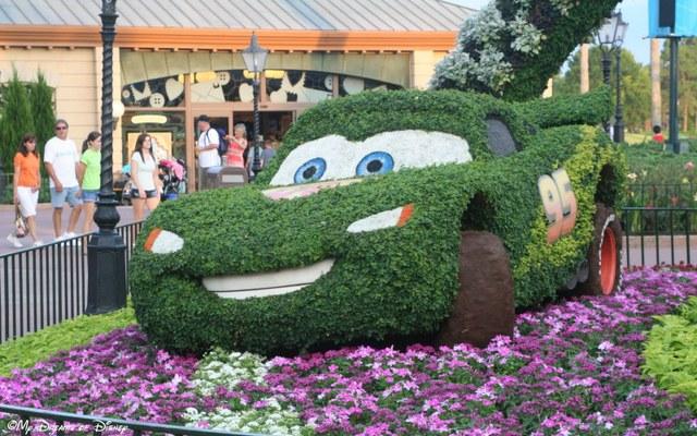 Lightning McQueen at the Flower and Garden Festival!