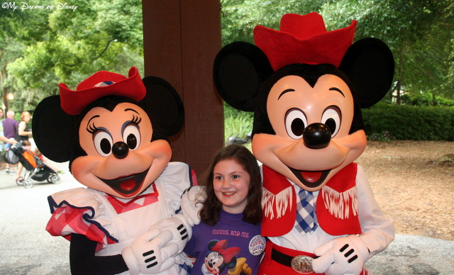Sophie celebrated her 9th birthday with Mickey & Minnie at Mickey's Backyard BBQ!