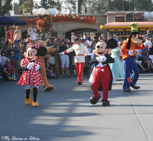 Mickey & Minnie walk during the 40th Anniversary celebration!