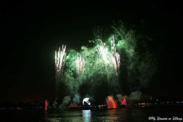 Green lights up the sky in Illuminations, Reflections of Earth.