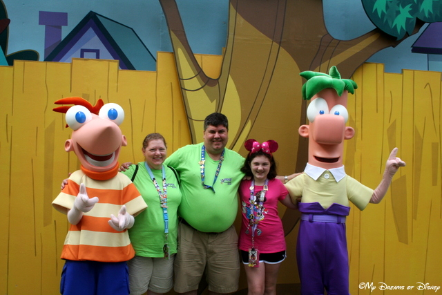 It was the first time we ever had our picture with Phineas and Ferb!