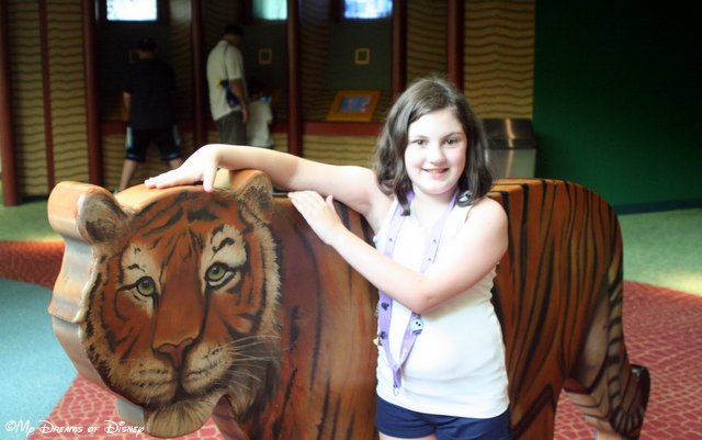 Sophie with the Tiger