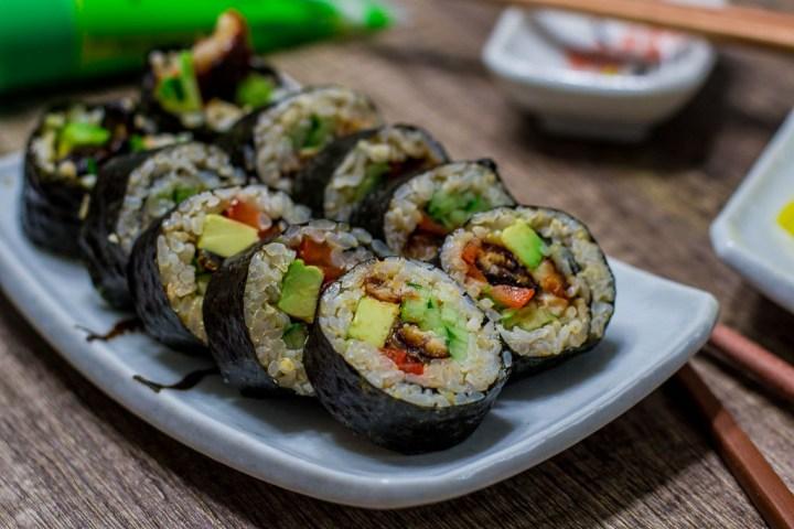Unagi (Japanese eel) Sushi Roll Dinner