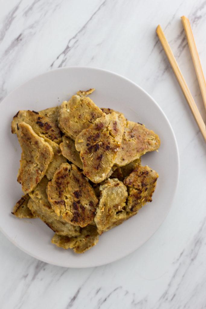 Cooked seitan for vegetarian gyros