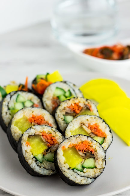 Vegan Kimbap with mushroom final