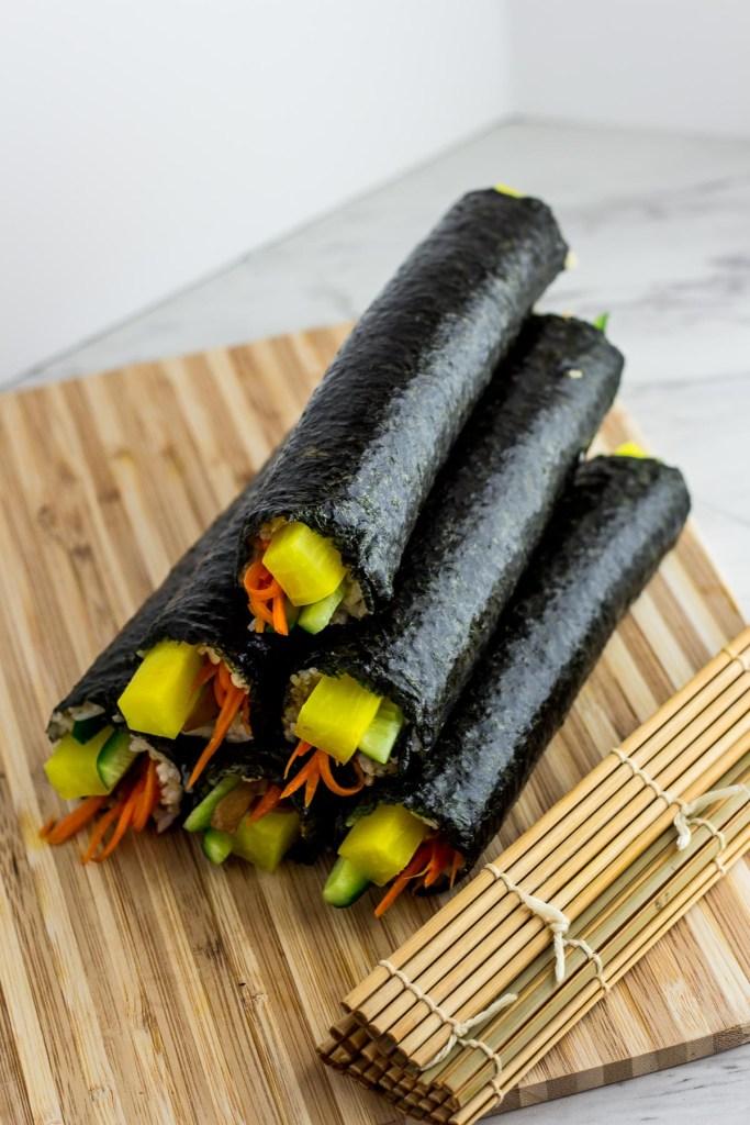 Vegan Kimbap (with Bulgogi mushroom) - My Eclectic Bites