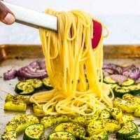 Oven Roasted Sheet Pan Summer Veggie Pasta