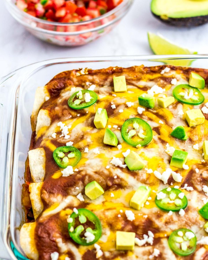 vegetarian enchiladas after baked in the oven