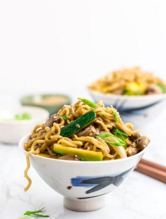 two bowls of hibachi ramen noodles