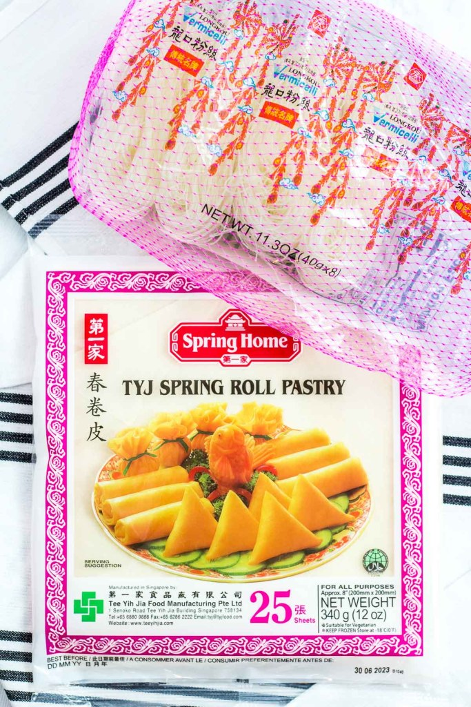 spring roll pastry/wrappers and vermicelli noodle