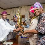 Group Dynamics Competition; NSE Osogbo Presents Trophy to Osun State Governor Aregbesola