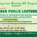 NSE Oluyole to organise Maiden Public Lecture: Targets Infrastructure MasterPlan for Accelerated Development