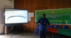Guest Speaker Making Presentation