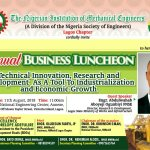 Lagos Mechanical Business Luncheon: Innovation, R&D as a Tool to Industrialisation and Economic growth to take centre stage