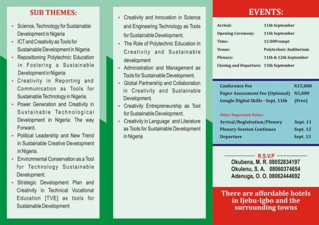 Abraham Adesanya Polytechnic First national Conference: call for participation