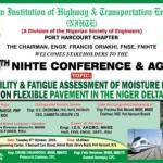 Port Harcourt Highway and Transport Engineers set for 4th Annual Conference and AGM