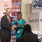Augustina Ovuema received Young Member Outstanding Service Award (Africa Region)