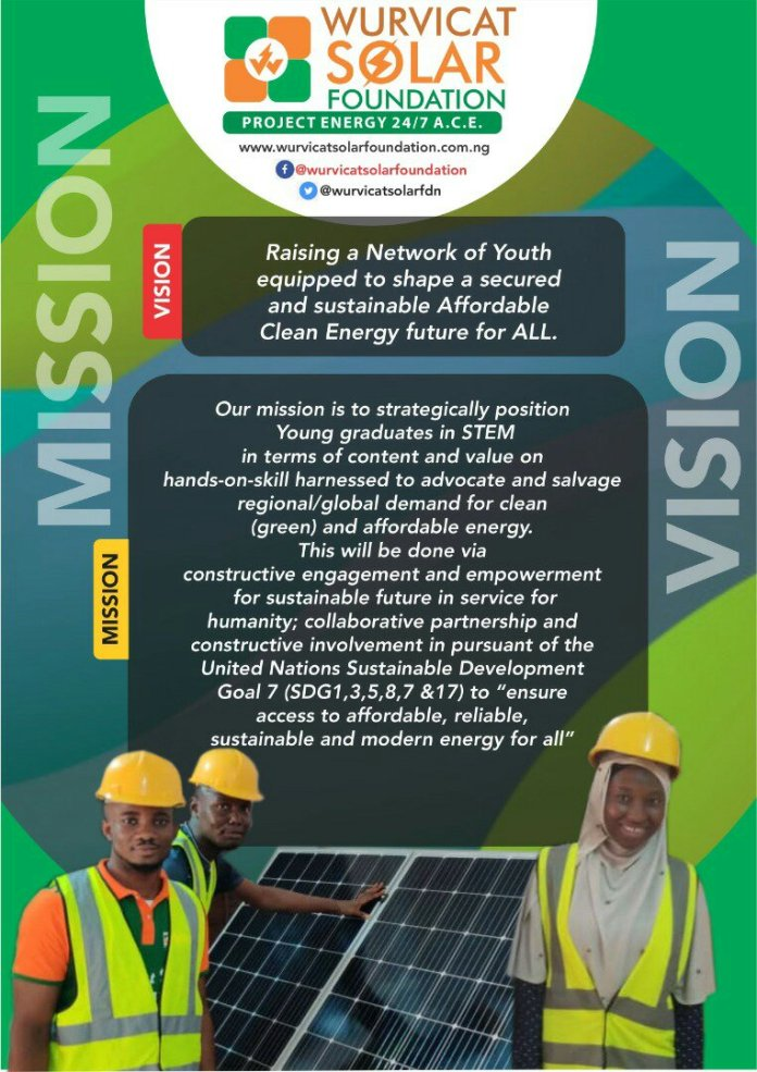WURVICAT SOLAR FOUNDATION FREE SOLAR TRAINING FOR YOUTHS OPENS