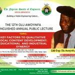NSE Ikeja to beam searchlight on industry-academic partnership; as Engineers converge in memory of late Olu Awoyinfa
