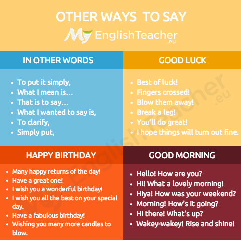 OTHER WAYS TO SAY 2
