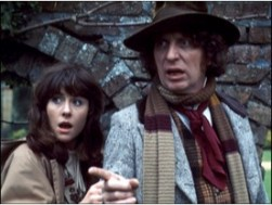 Sarah Jane with the Fourth Doctor.