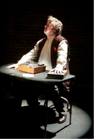 Barkhimer as Krapp. Photo credit Marc S. Miller.
