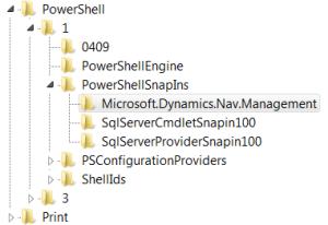 Before FIX Microsoft Dynamics NAV 2013 Administration Keys Status