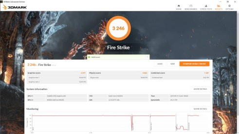 ASUS Vivobook S15 S531F Fire Strike