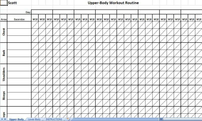 weightlifting spreadsheet template