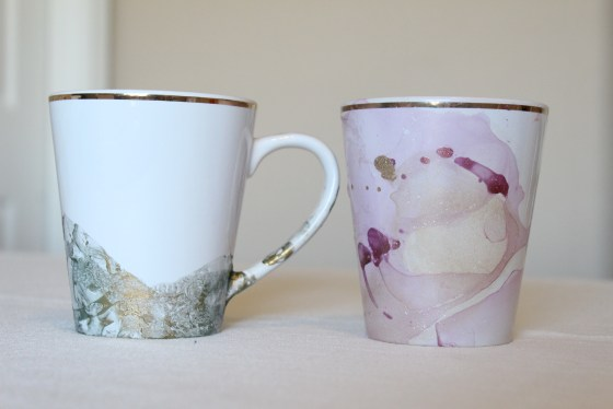 DIY Marble Mugs #myfairolinda
