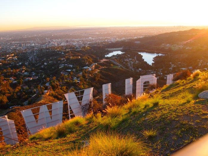 View of L.A. from the Hollywood sign.
