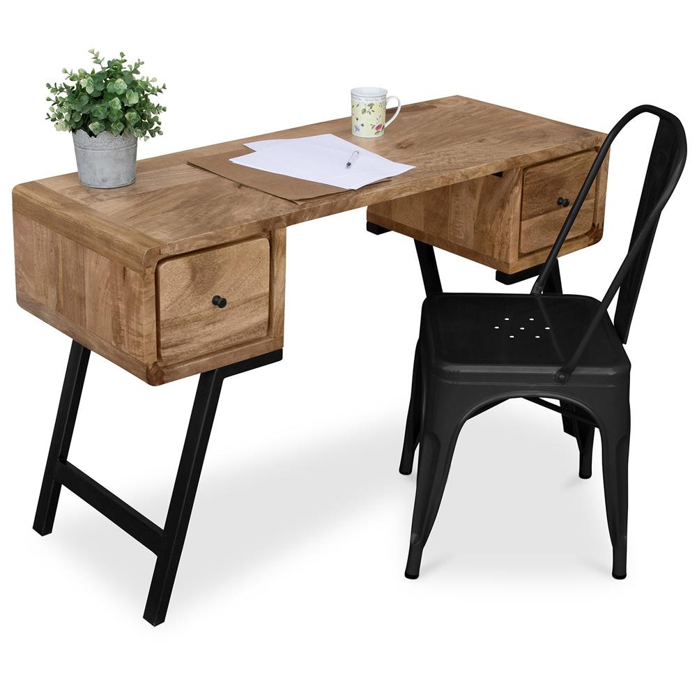 bureau design en bois recycle style