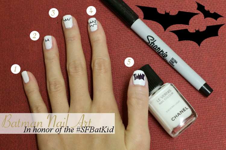 Sfbatkid Inspired Nail Art Batman Nails