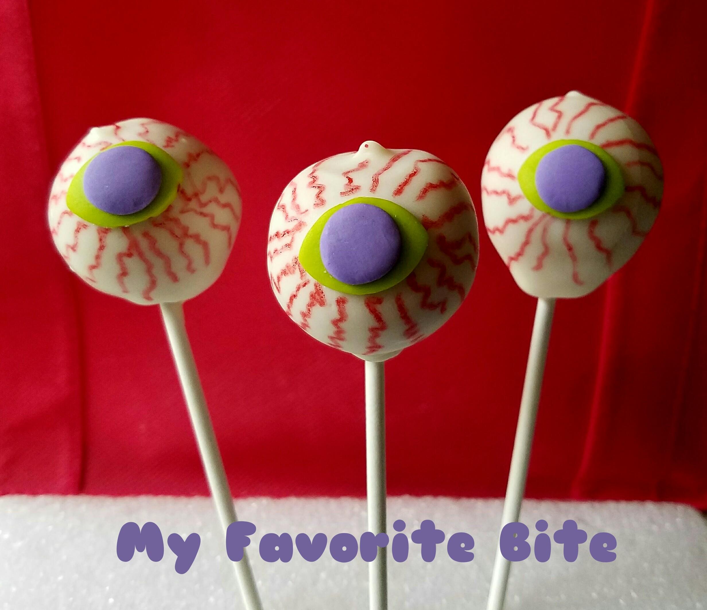 Halloween Cake Pops | Halloween Cake Pops Eyeball My Favorite Bite