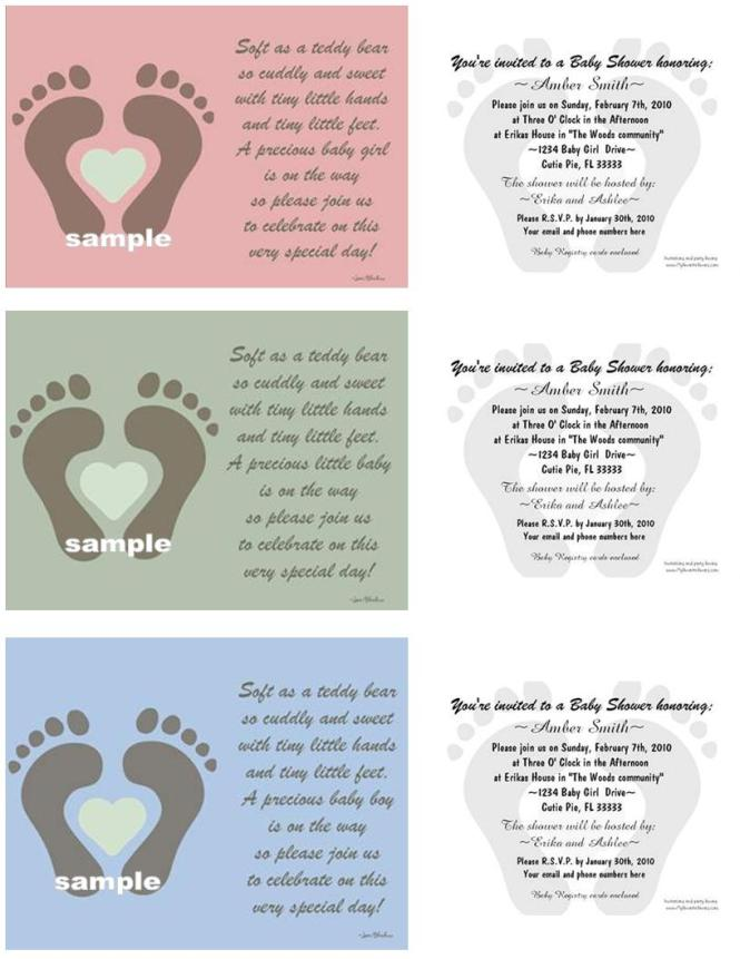 Twin Baby Shower Invitations Templates Free