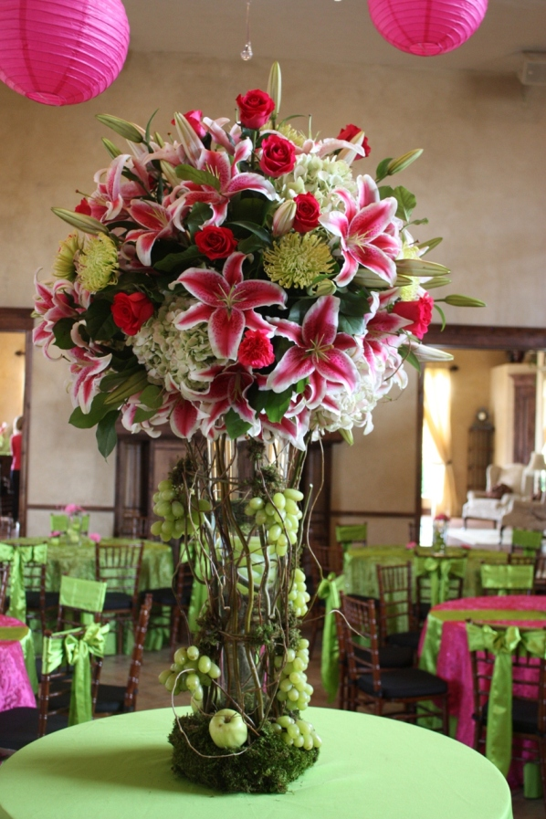 Wedding Centerpieces With Branches Ocean Blue And Green Centerpiece