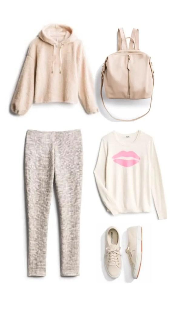Stitch Fix athleisure cream monochromatic outfit