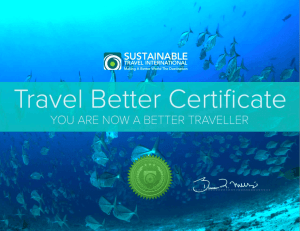 Travel Better Certificate