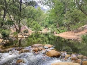 Lower portals Mount Barney national Park river crossing