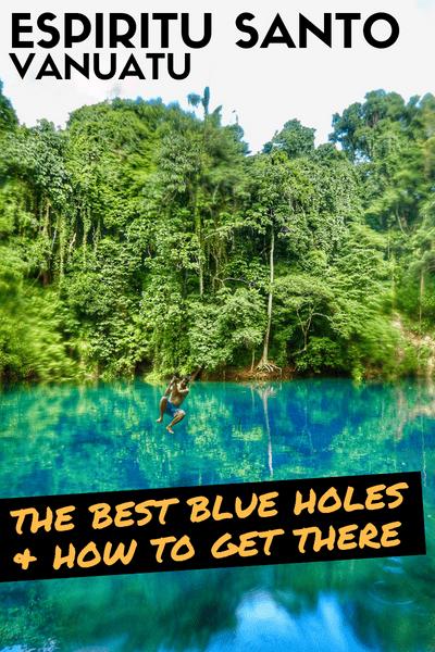 Vanuatu Espiritu Santo Blue holes