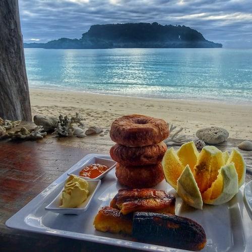 Breakfast at Serenity Beach Bungalows - Accommodation Santo Port Olry
