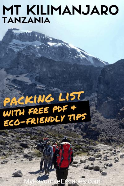 Mt Kilimanjaro Packing List eco-friendly tips