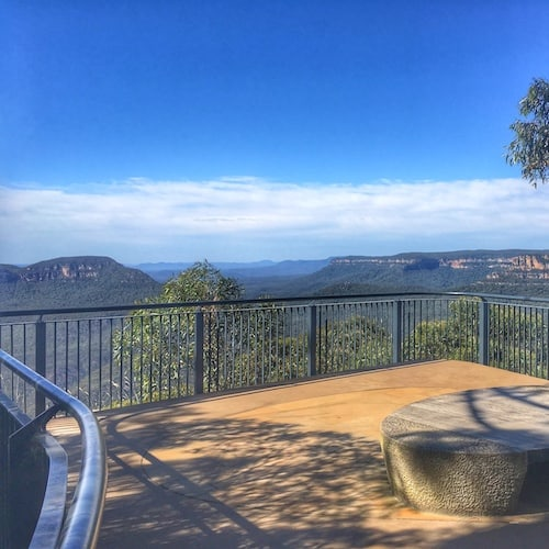 Lookout on the Three Sisters Walk Katoomba Blue Mountains